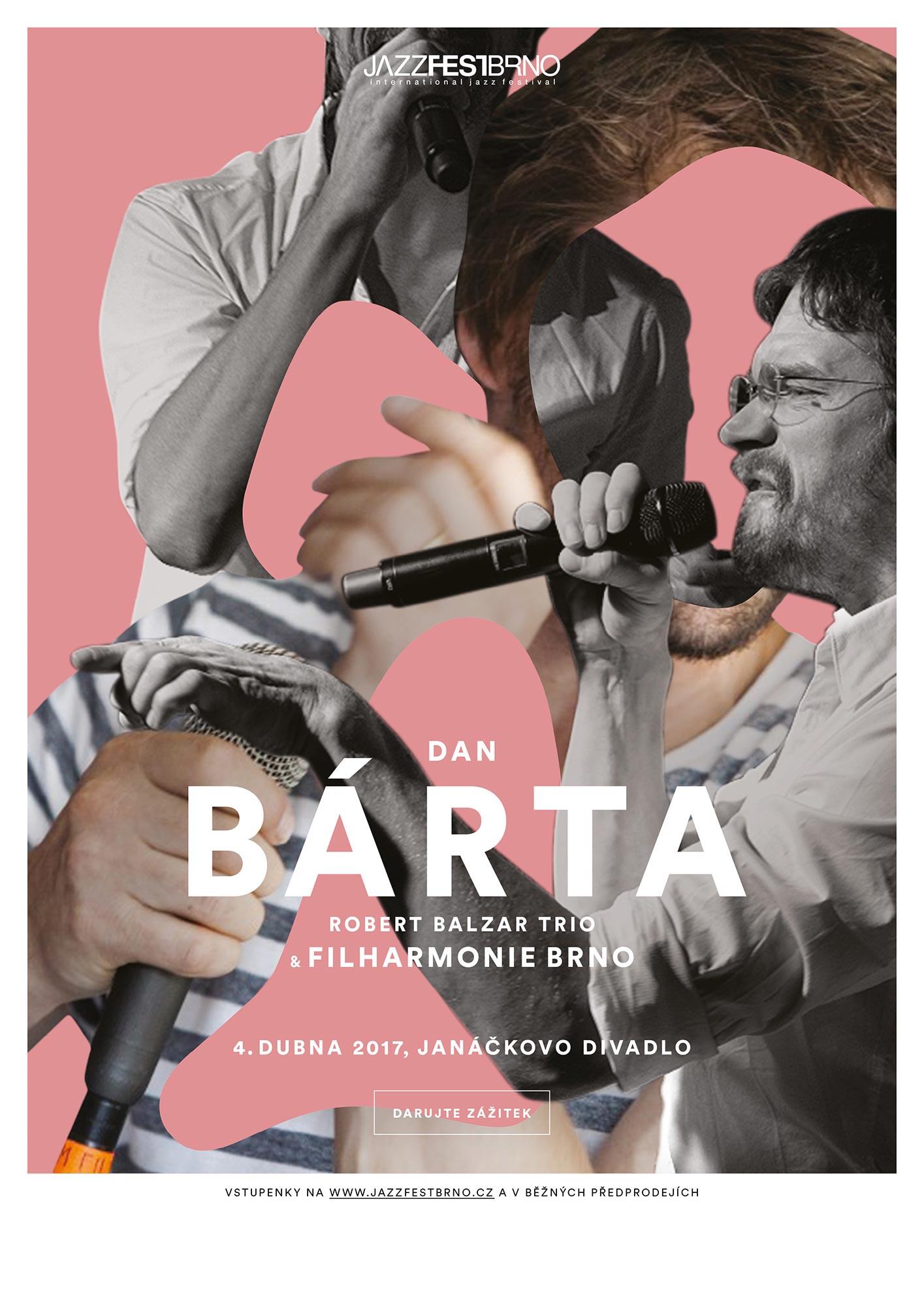 Jazzfestbrno 2017 - Dan Bárta a Robert Balzar Trio a Filharmonie Brno