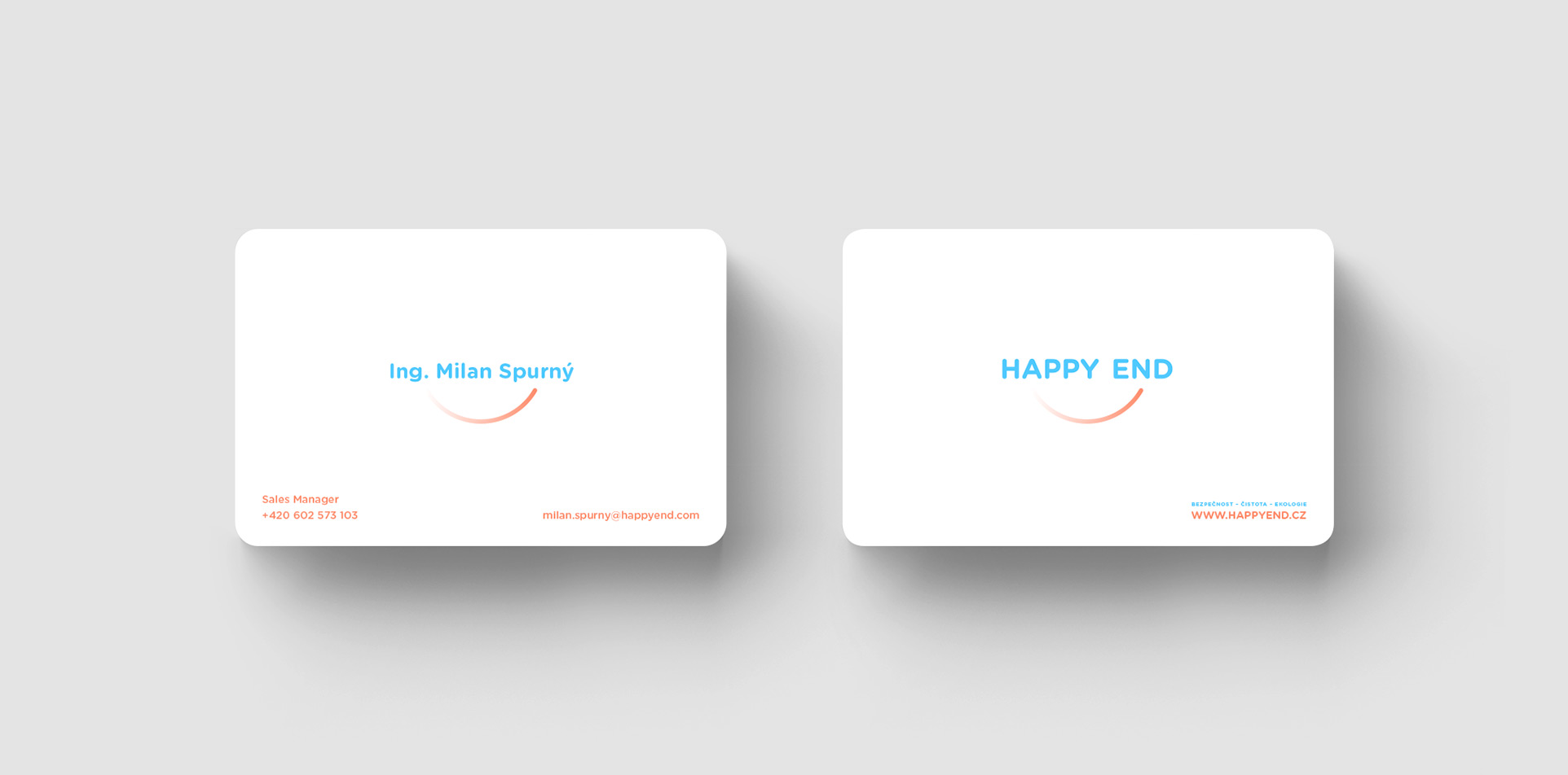 Happy End business card
