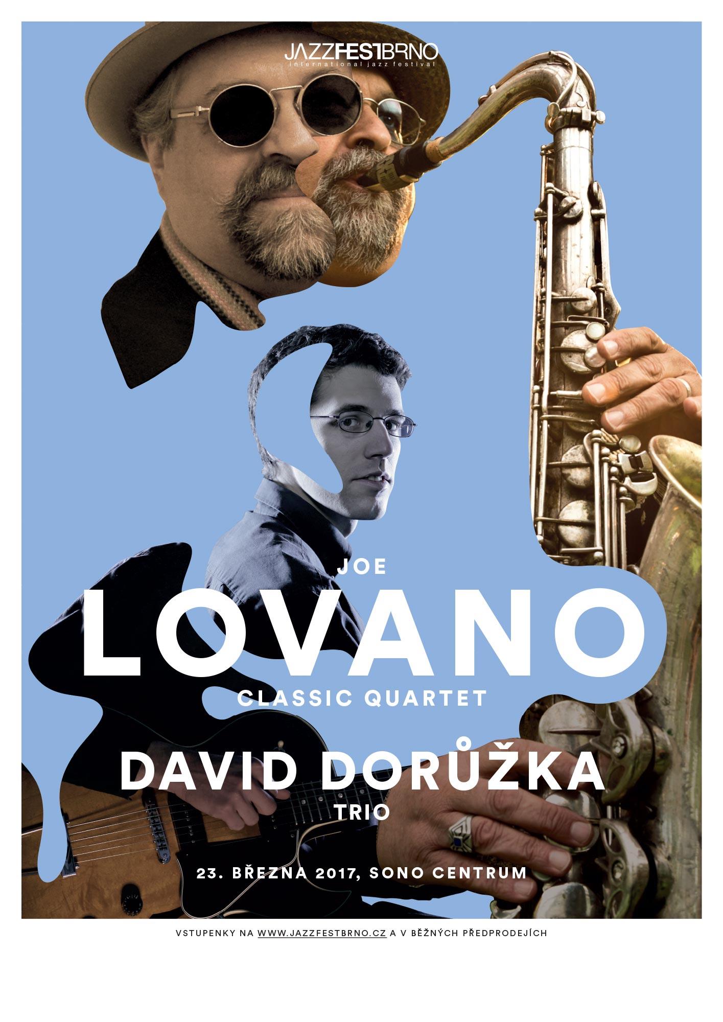 Jazzfestbrno 2017 - Joe Lovano Classic Quartet a David Dorůžka Trio